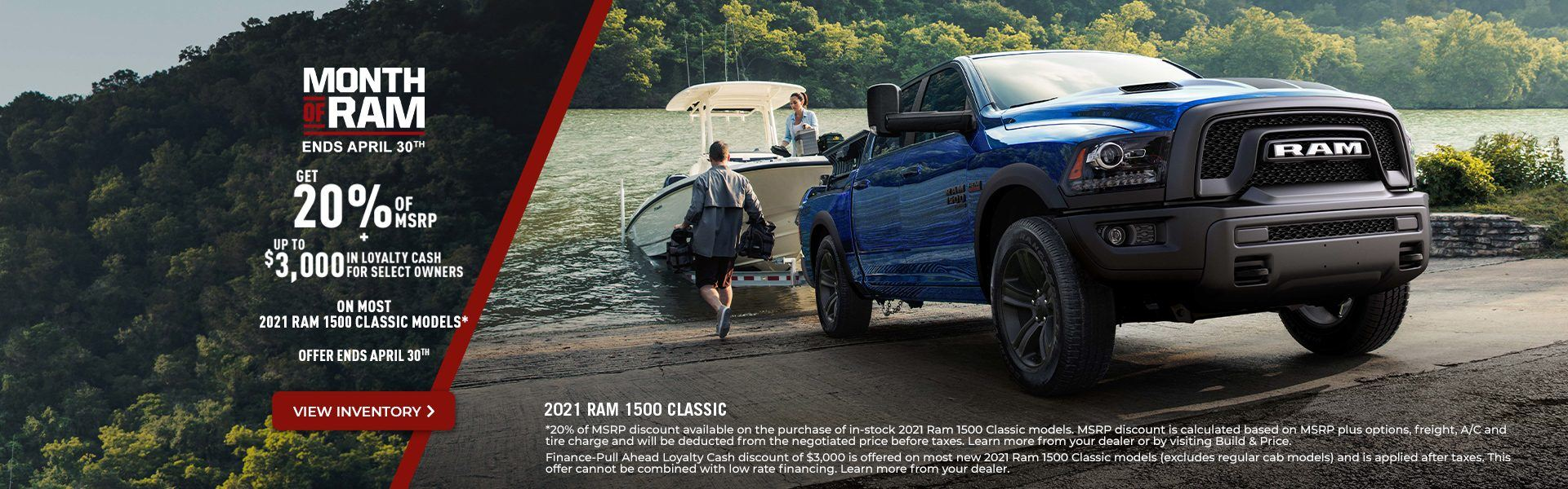 2021 RAM 1500 Classic Promotional Banner